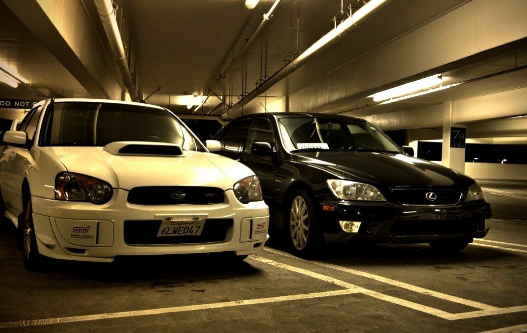 Subaru Impreza WRX STI, and Lexus IS300